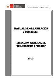 Dir. Gral. de Transporte Acuático - Ministerio de Transportes y ...