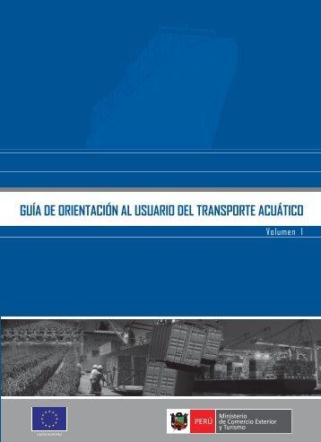 guía de orientación al usuario del transporte acuático - Ministerio de ...