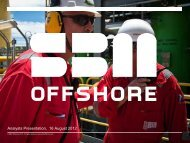 Half Year Results 2012 Analyst Presentation - SBM Offshore