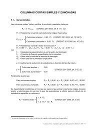 COLUMNAS CORTAS SIMPLES Y ZUNCHADAS - INTI