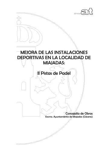 MEJORA DE LAS INSTALACIONES DEPORTIVAS EN LA ...