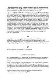 6. Änderungssatzung zur Straßenreinigungssatzung