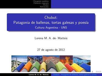 Chubut - Lorena MA de- Matteis
