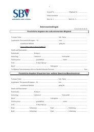 Interessentenbogen - Selbsthilfe Bauverein eG