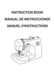 instruction book manual de instrucciones manuel d ... - Janome