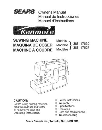 sewing machine maquina de coser managemylife rh yumpu com Operators Manual Service Manuals