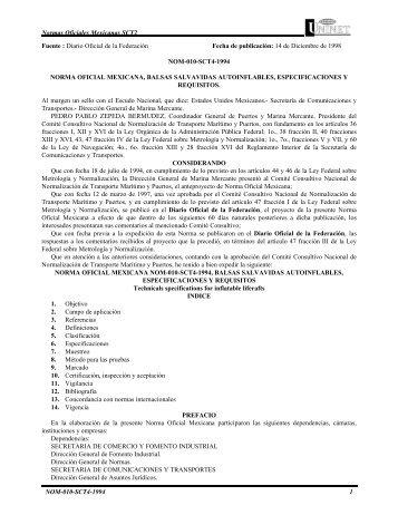 Normas Oficiales Mexicanas SCT2 NOM-010-SCT4-1994 1 Fuente ...
