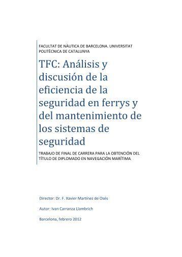 TFC: Análisis y discusión de la eficiencia de la ... - UPCommons