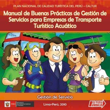 MBP PARA EMPRESAS DE TRANSPORTE TURÍSTICO ACUATICO ...