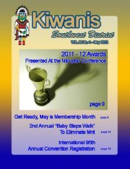 May 2013 District Newsletter - Kiwanis-albuquerque.org