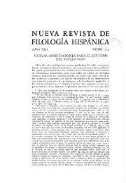 nueva revista de filología hispánica - Aleph Ciencias Sociales