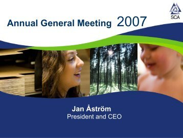 SCA Annual General Meeting 2007