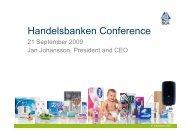 Handelsbanken Conference - SCA