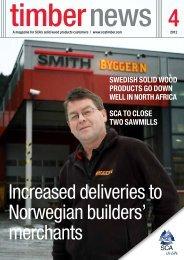 Increased deliveries to Norwegian builders' merchants - SCA