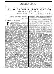 De la razón antropofágica. Diálogo - iberoamericanaliteratura