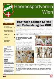 HSV-Journal 2009 Nr. 1 (PDF) - Heeressportverein WIEN
