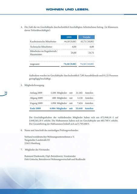 Bericht des Aufsichtsrates - Selbsthilfe Bauverein eG