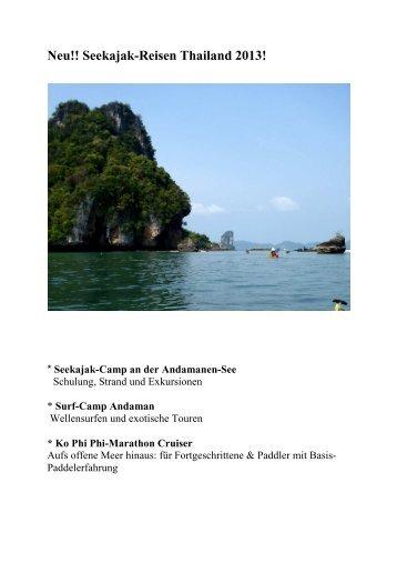 Seekajak-Camp an der Andamanen-See - Kanu, Sport, Outdoor ...