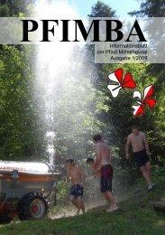 PFIMBAInformationsblatt der Pfadi Mittelrheintal Ausgabe 1/2009