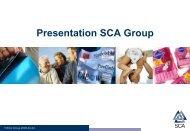 Presentation SCA Group