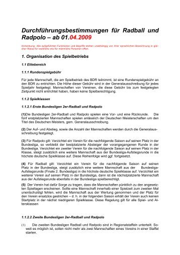 Durchführungsbestimmungen für Radball und Radpolo – ab 01.04 ...