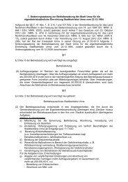 7. Änderungssatzung zur Betriebssatzung - Stadtbetriebe Unna