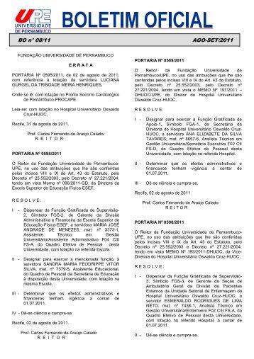BO n° 08/11 AGO-SET/2011 .00 - UPE