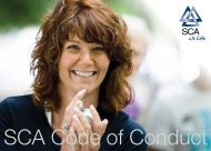 SCA Code of Conduct