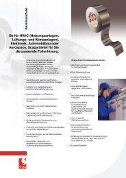 Ob für HVAC (Heizungsanlagen, Lüftungs- und Klimaanlagen) - Scapa