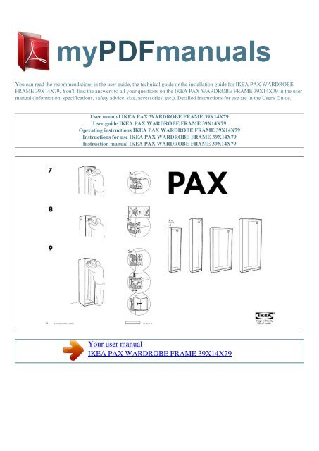 Pax Wardrobe Frame 39x14x79 My Pdf Manuals
