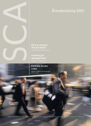 Helårsrapport 2001 - SCA