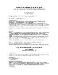 Ley de protección Frente a la Violencia Familiar - Cepal