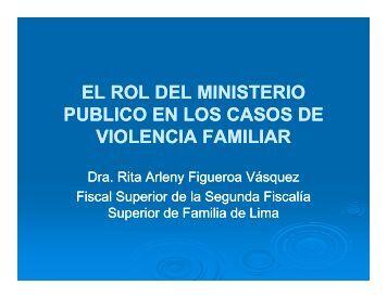la carga de la prueba en el proceso de violencia ... - Ministerio Público