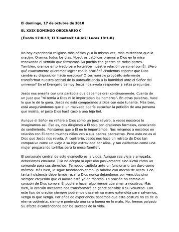 XXIX Domingo del Tiempo Ordinario, Ciclo C. San ... - Homiletica.org