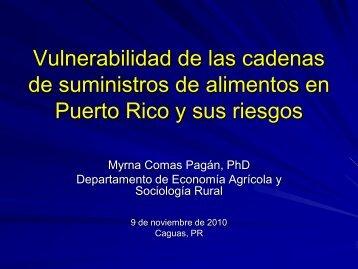 Conferencia sobre seguridad alimentaria en Puerto Rico