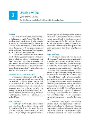 Ataxia y vértigo - Asociación Española de Pediatría