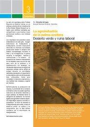 La agroindustria de la palma aceitera Desierto verde y ruina laboral