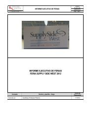 informe ejecutivo de feria supply side west 2012 - Siicex