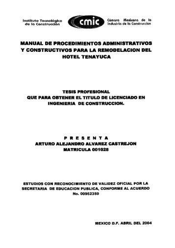 MANUAL DE PROCEDIMIENTOS ADMINISTRATIVOS Y ...