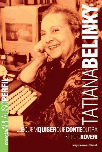 Tatiana Belinky - Livraria Imprensa Oficial