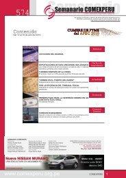 Semanario COMEXPERU Nº 574 - ComexPerú