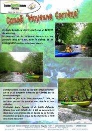 Télécharger la fiche descriptive - Station Sports Nature Corrèze