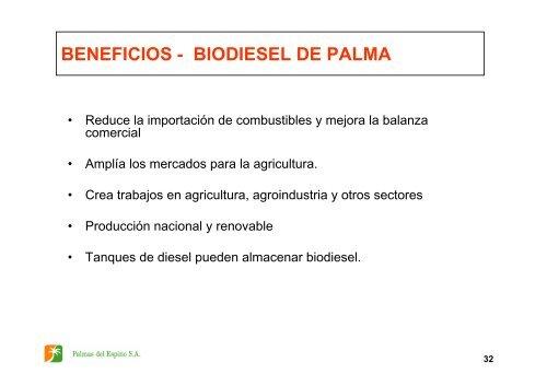 la palma aceitera en el perú y los biocombustibles - Corpoica