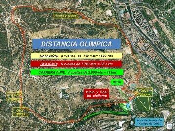 Planos de los circuitos del Día del Triatlón