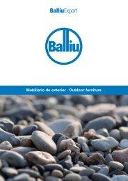 Katalog von Balliu Liegen, Gartenmöbeln usw.