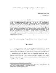 ESTRANGEIRISMO –PROTEÇÃO E DEFESA DA LÍNGUA ... - Ulbra