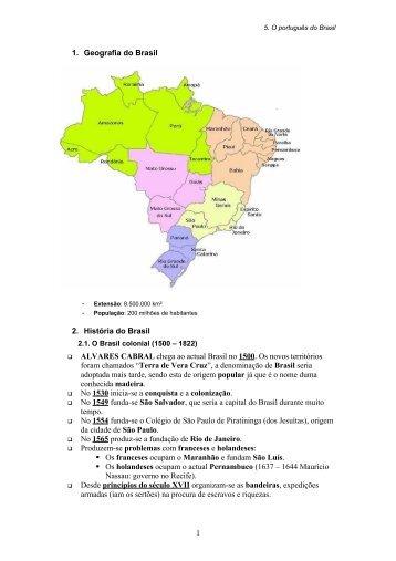 1. Geografia do Brasil 2. História do Brasil ALVARES CABRAL ...