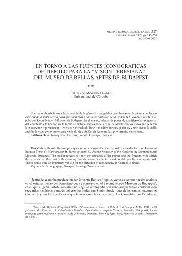 Versión para imprimir - Archivo Español de Arte - Consejo Superior ...