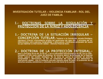 I.- DOCTRINAS DOCTRINAS SOBRE LA ... - Ministerio Público