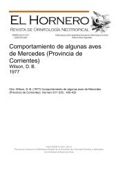 Comportamiento de algunas aves de Mercedes (Provincia de ...